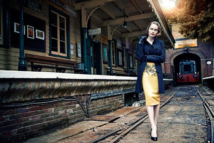 Sesja kolekcji QUIOSQUE na sezon jesień-zima 2014/2015, photo: Kajus W. Pyrz #QSQ #photography #photo #retro #vintage #england #greatbritain #fashion #inspiration #autumn #fall #look #outfit #women #beauty #style #casual #elegance #vintage #retro #odlschool
