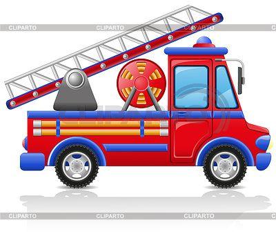 Пожарная машина | Векторный клипарт | ID 3385604