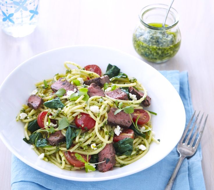 Summery steak spaghetti at http://chelseawinter.co.nz/steak-spaghetti/