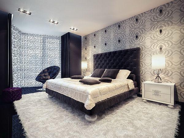 black-white-interior-bedroom
