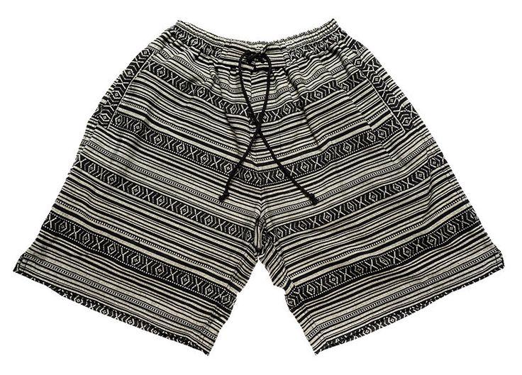 Surfer / bohemian shorts for Men in fantastic inca pattern by Aviimade on Etsy