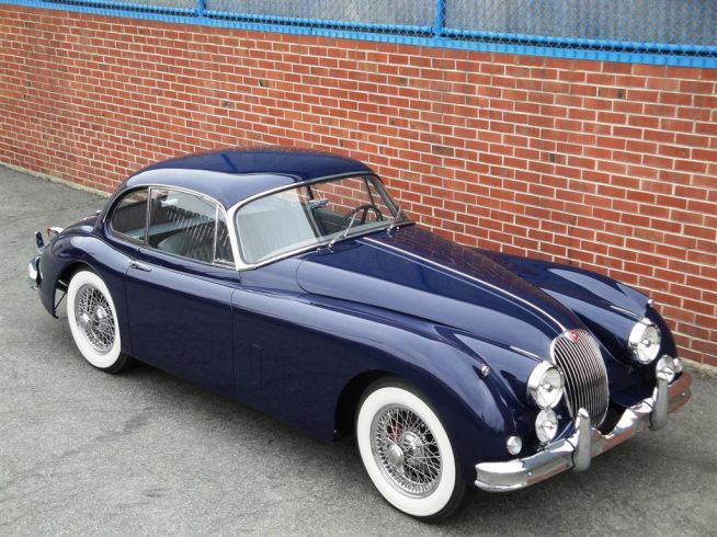 1960 Jaguar XK 150 FHC  s/n S834330DN, Engine no. V1435-8  Dark Blue with Elephant Grey Leather