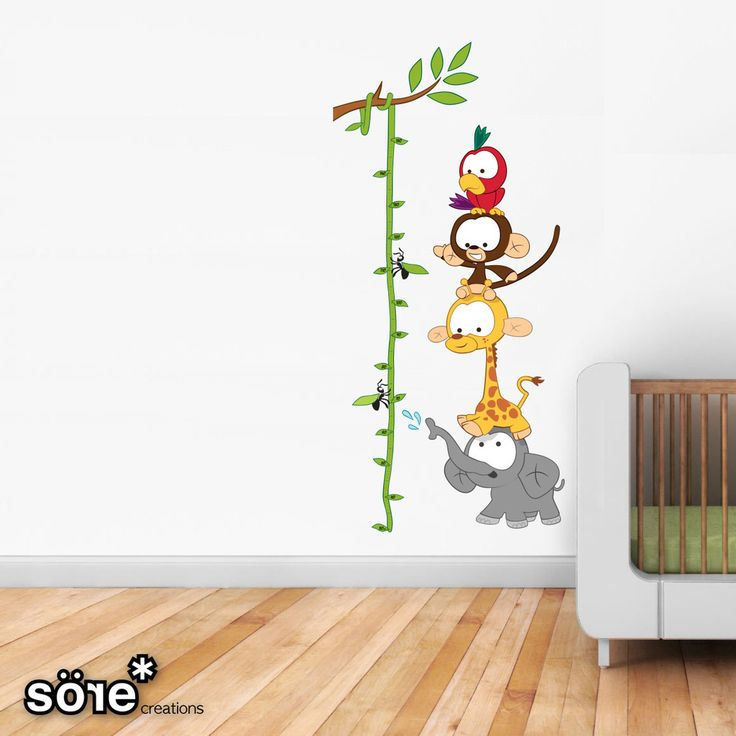 Baby Jungle Height chart Wall Stickers