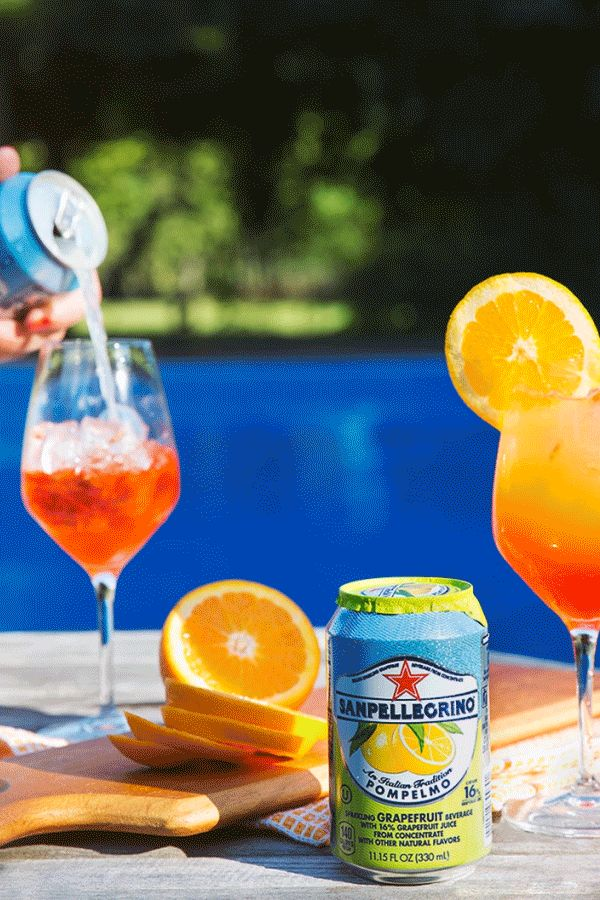 Summer means long days lounging poolside. Keep yourself and your guests refreshed by serving tart and sweet Pompelmo spritzers. Simply combine Pompelmo with orange flavored Italian bitters and a splash of prosecco over ice! Made with real fruit juice from sun-ripened citrus, Sanpellegrino Sparkling Fruit Beverages are the go-to drink of summer.