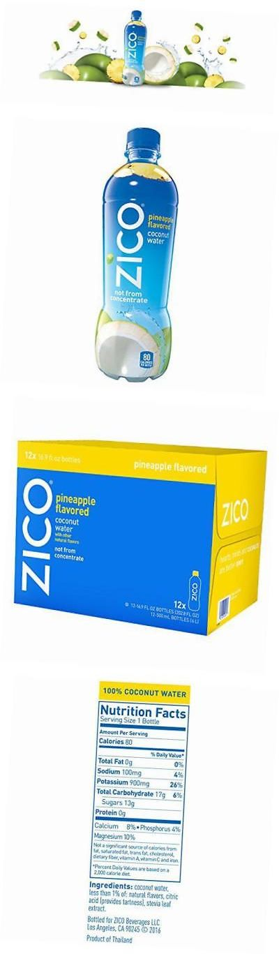 Coconut Water 179175: Zico Coconut Water, Pineapple, 16.9 Ounce (Pack Of 12) -> BUY IT NOW ONLY: $36.65 on eBay!