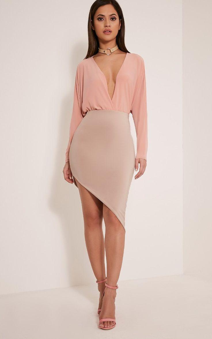 Stone Faux Suede Midi Skirt Pretty Little Thing Shop Online Free Shipping Great Deals Best Sale Cheap Online CquLukPWK