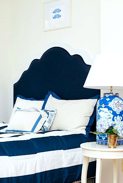 Katie Kime Scalloped Headboard As Featured On Design
