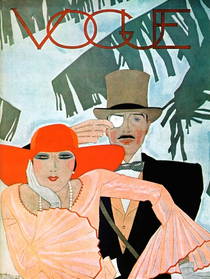 Vintage Poster - Vogue Art Deco Monacle - Fashion