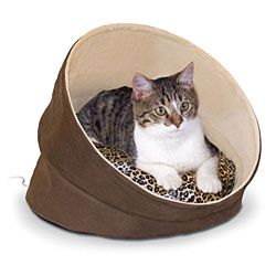 Thermo-Kitty Cave Heated Cat Bed | CozyWinters
