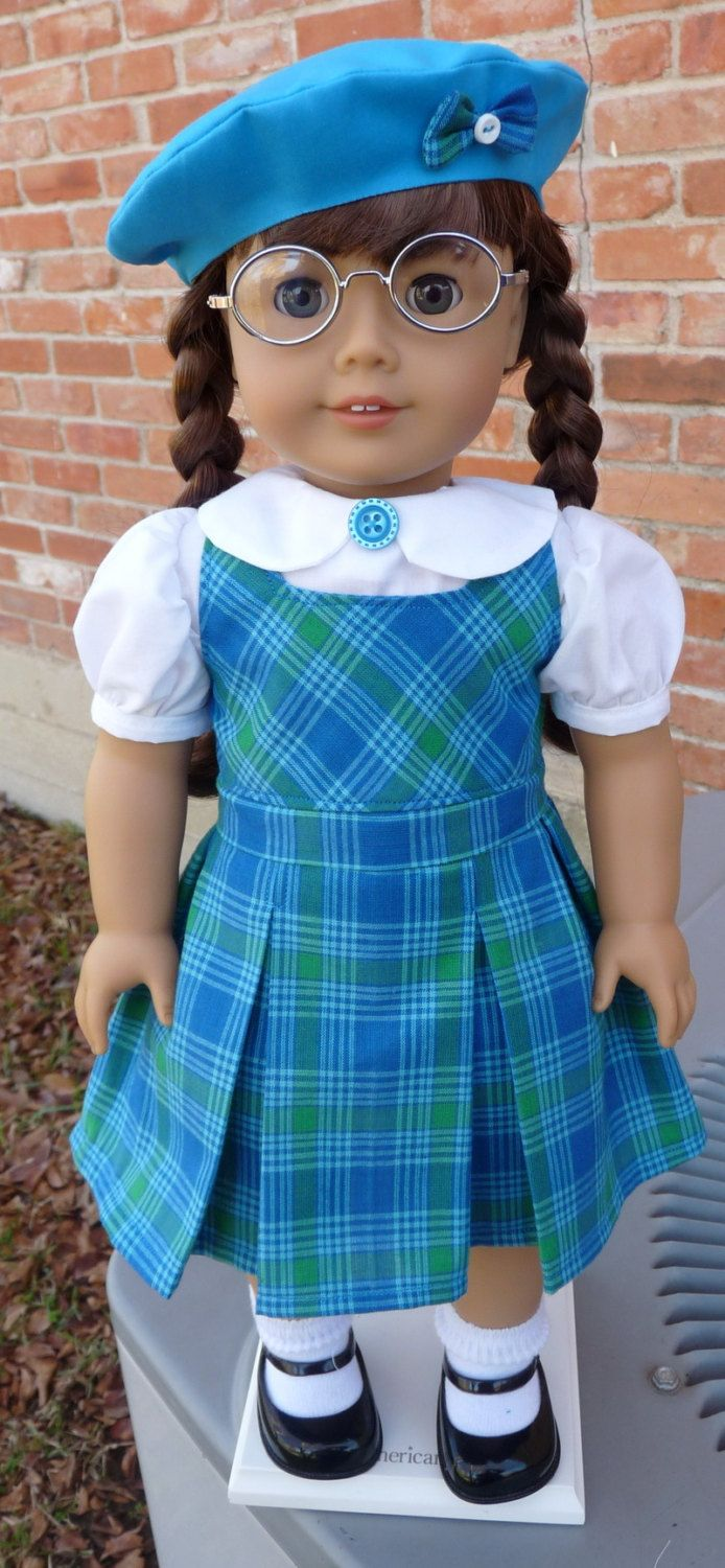 "18"" Doll Clothes Historical 1940s Style School Jumper Fits American Girl Molly, Emily, Kit, Ruthie"