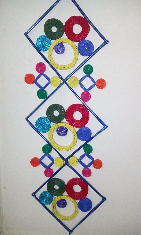 Fevicryl Hobby Ideas - Newspaper wall hanging | Creativity ...