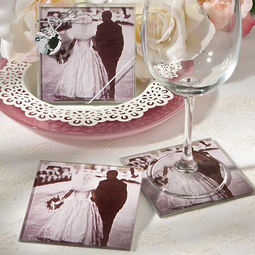Talk About Vintage Wedding Glam These Photo Coasters Capture The Magic Of Romance And Newlywed Bliss In True Retro Style