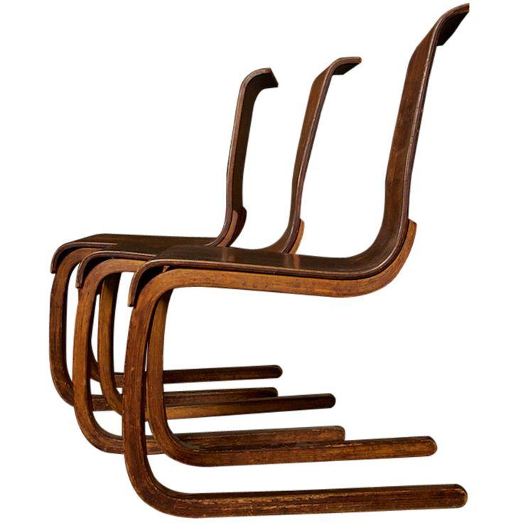 1stdibs   Alvar Aalto Chairs, No. 21, Set of Three