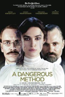 A Dangerous Method  is a 2011 historical film directed by David Cronenberg and starring Keira Knightley, Viggo Mortensen, Michael Fassbender, and Vincent Cassel. The screenplay was adapted by writer Christopher Hampton from his 2002 stage play The Talking Cure, which was based on the 1993 non-fiction book by John Kerr, A Most Dangerous Method: The story of Jung, Freud, and Sabina Spielrein.