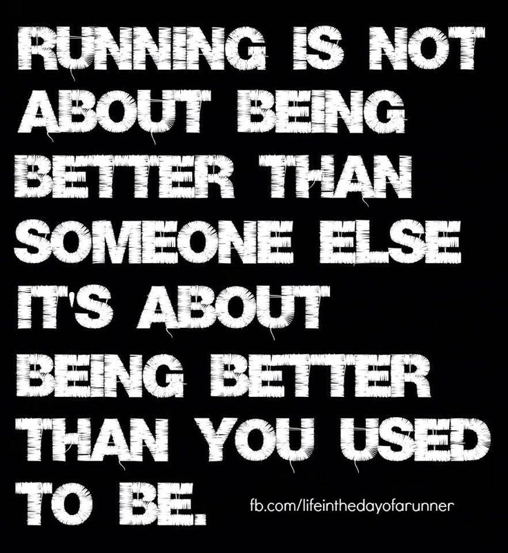 Running is not about