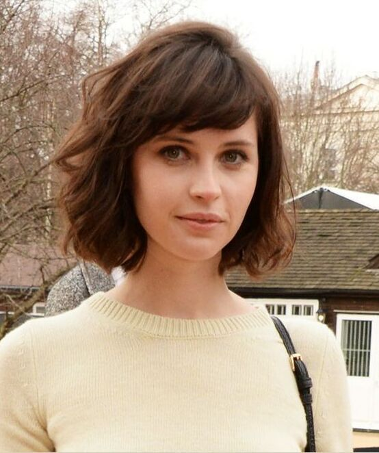 Formal Bob Haircut with Side Bangs                                                                                                                                                     More                                                                                                                                                                                 More