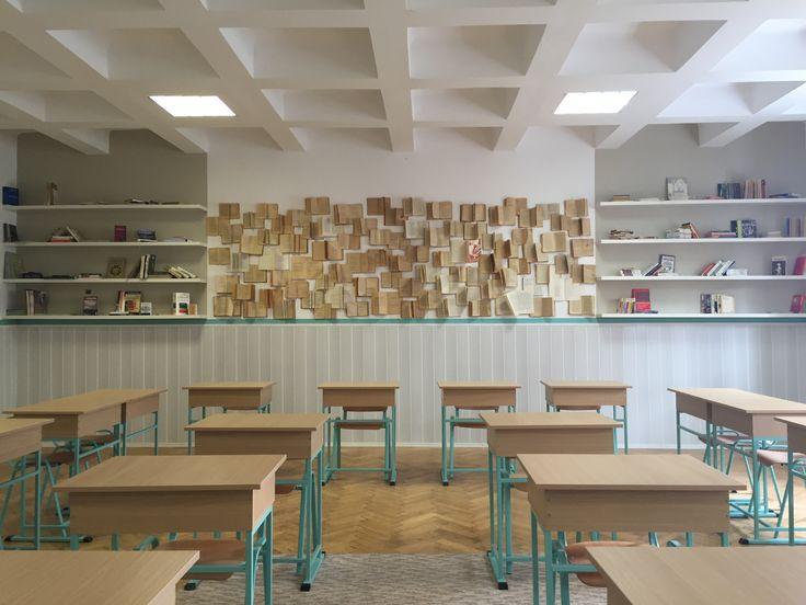Classroom design in Bucharest by www.iokadesign.ro