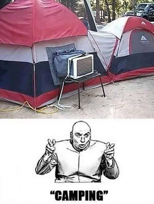 This is totally us... thinking about Camping (with portable a/c lol) #makesimplespecial