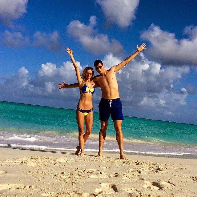 Danielle Knudson and Milos Raonic