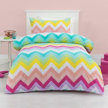 Kids House Zahara Quilt Cover Set Multicoloured