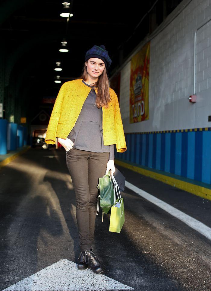 On the street, Pier 59 New York #fashion #streetstyle #streetchic #moda #mode