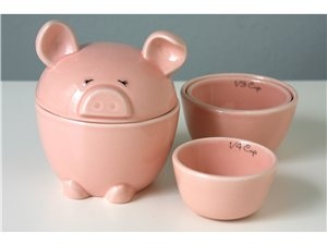 Love these Lil' Piggy Measuring cups. $19.99