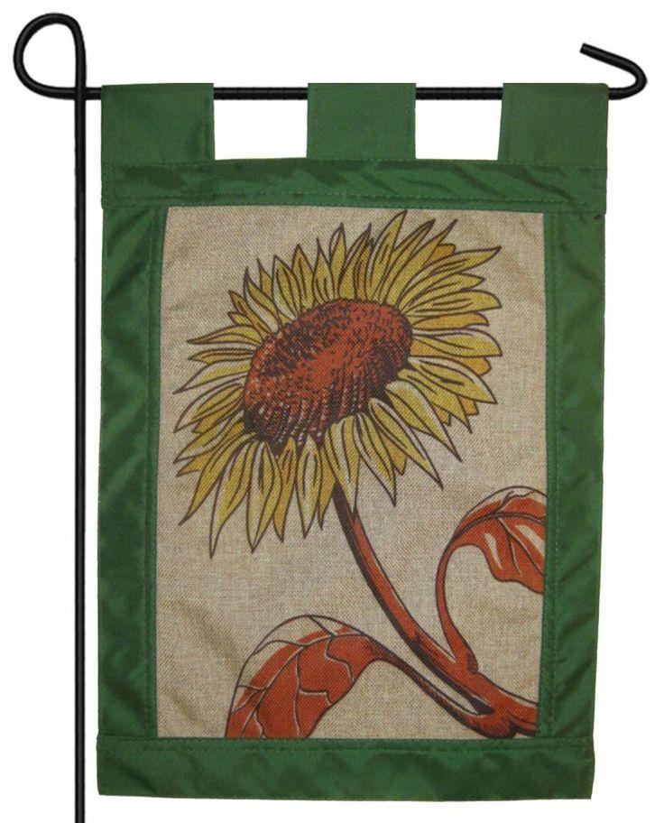 IAmEricas Flags   Burlap Summer Sunflower Garden Flag, $8.00 (http://www