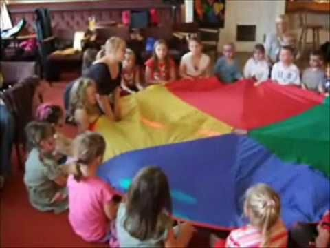 Parachute Game at a Childrens Party