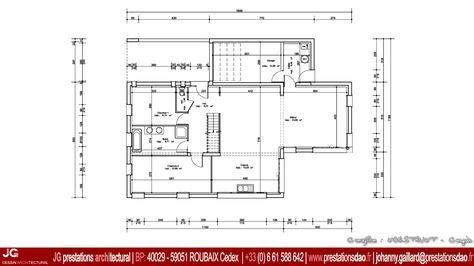 JG Dessin Architectural - Plan RdC pour Permis de construire (PCMI) d'une maison BBC (bâtiment basse consommation) de 150 m² à PRESEAU (59990) entre Valenciennes et Le Quesnoy dans le Nord – Pas De Calais (59 - 62) - www.prestationsdao.fr