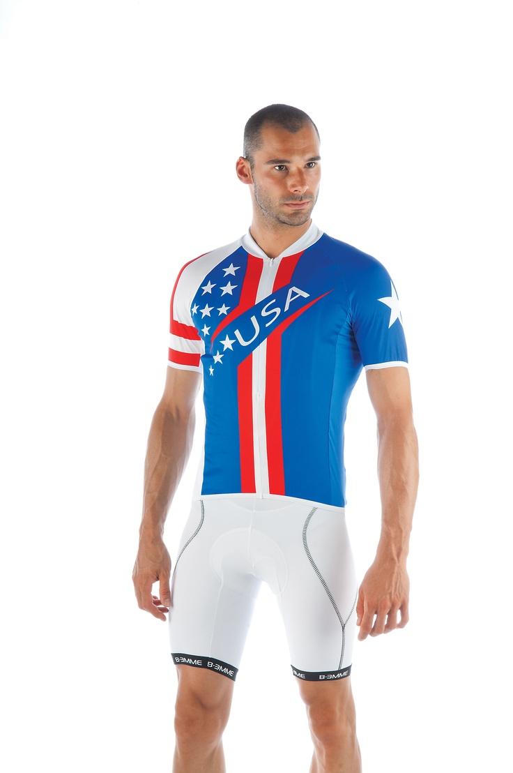 Biemme Men's USA cycling / bike jersey