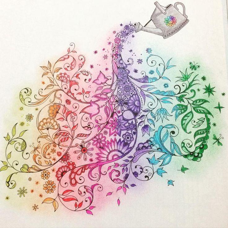 Rainbow Garden Coloring BooksAdult ColoringJohanna BasfordSecret
