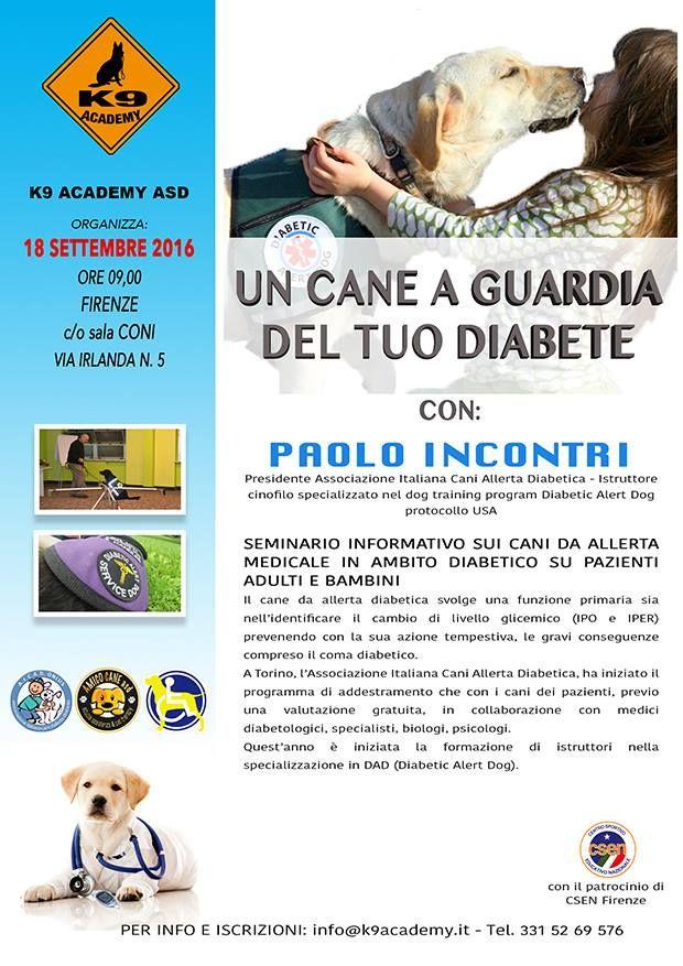 Un cane da guardia per il diabete: a Firenze il seminario…