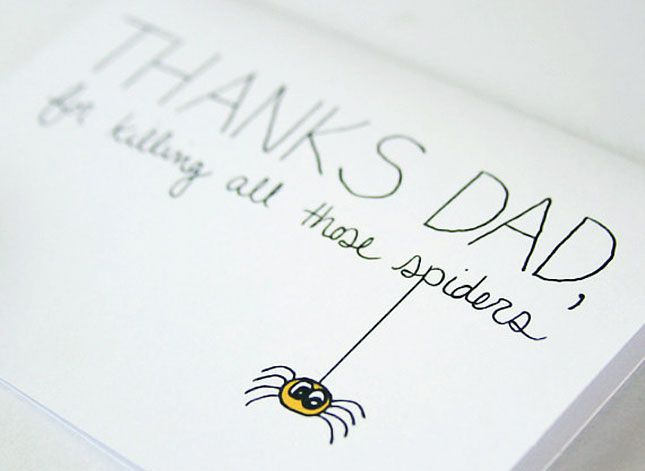 For Killing Spiders | 20 Father's Day Cards
