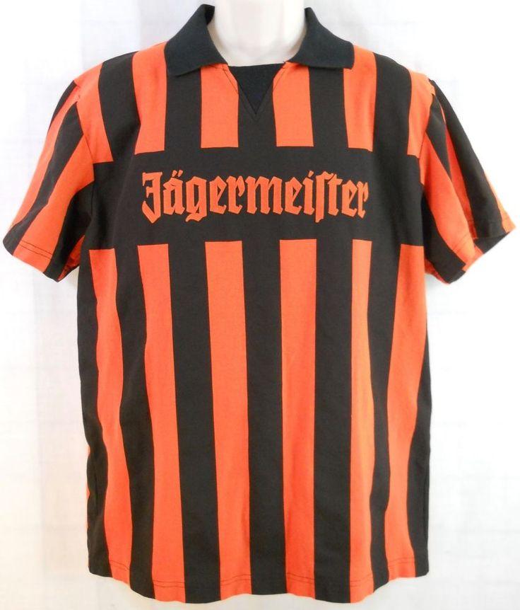 JÄGERMEISTER 08 Orange & Black Bartenders Referee Shirt Size Large #Jagermeister