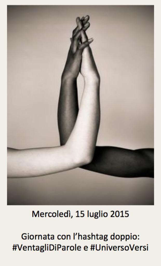 15 luglio 2015: la copertina per #VentagliDiParole e #UniversoVersi