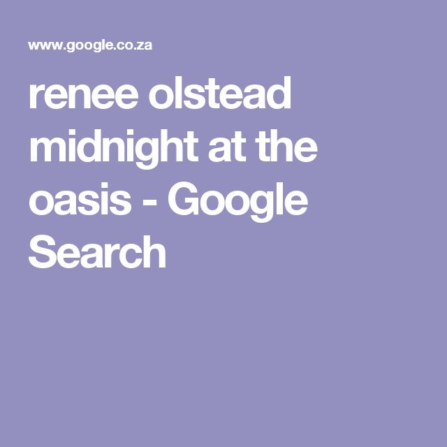 renee olstead midnight at the oasis - Google Search