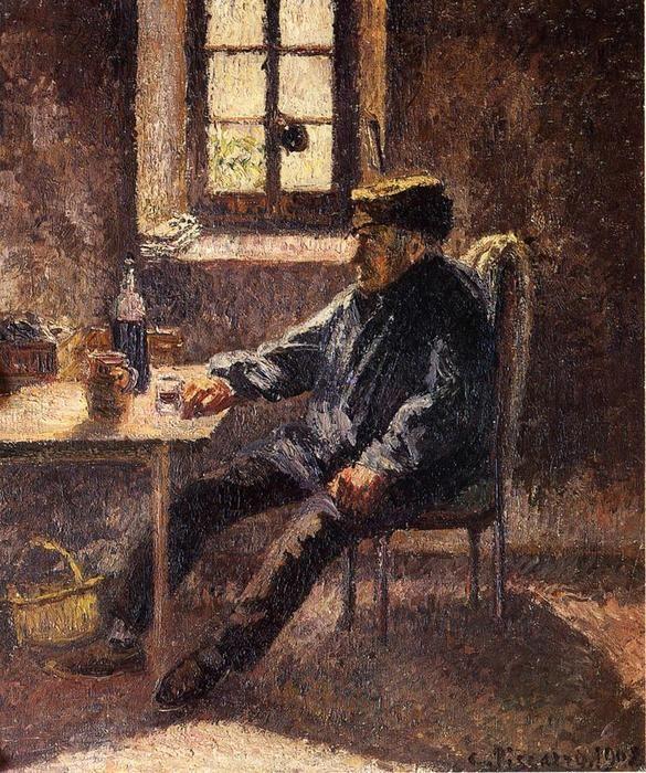 Old Wingrower Moret (também conhecido como o Interior), óleo sobre tela Camille Pissarro (1830-1903, Ilhas Virgens)
