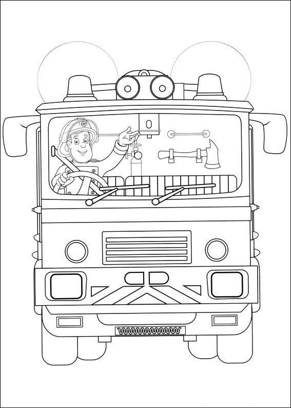 brandweermansam2 - TopKleurplaat.nl