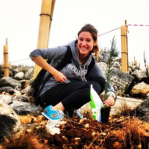 Planting trees for Tu B'Shevat