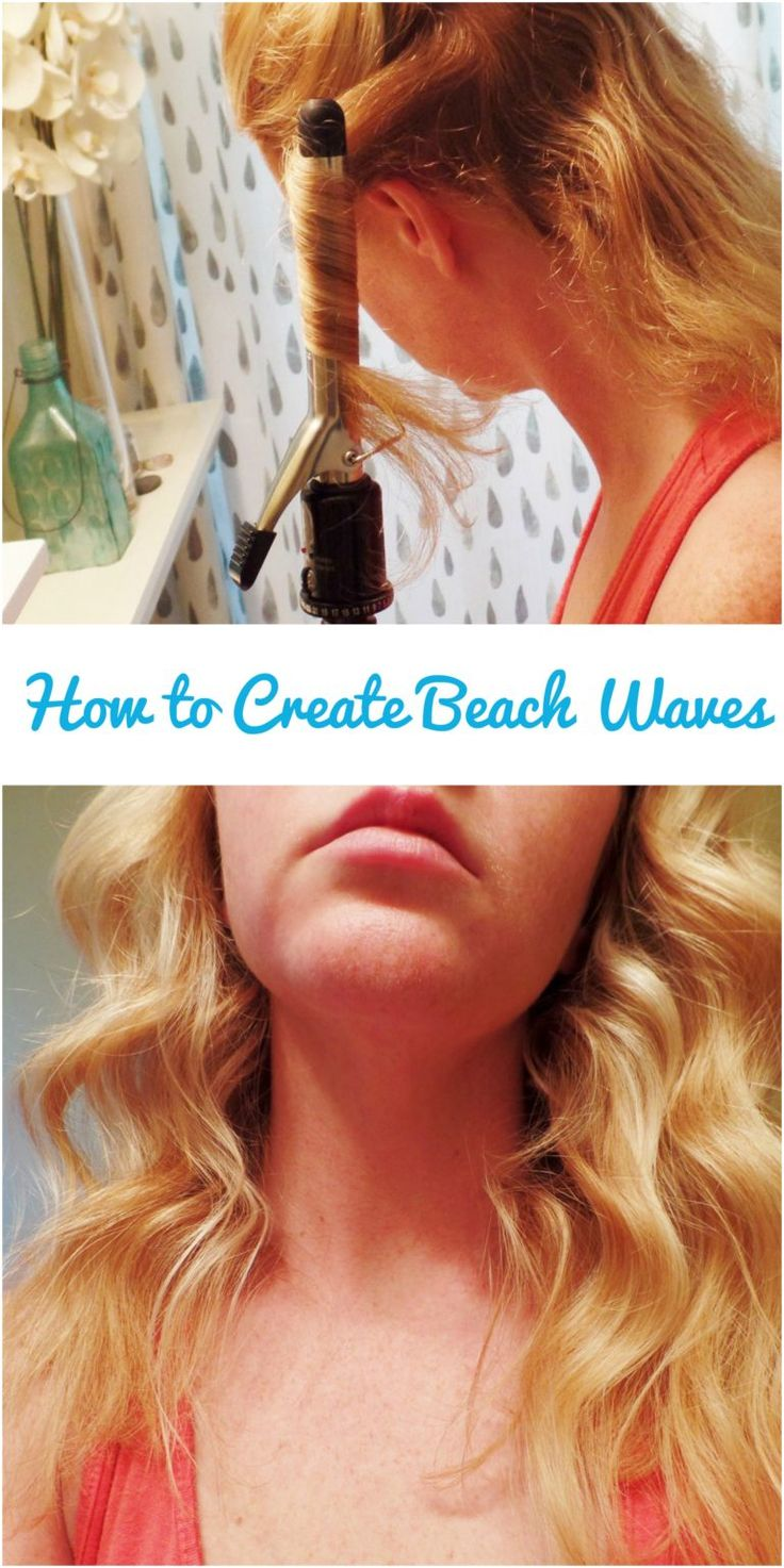 Use this curling iron trick to get perfect beach waves!