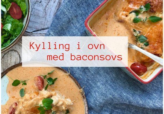 Denne lækre kylling i ovn med baconsovs er en vaskeægte hverdagslivret. Jeg har endnu ikke mødt nogen, børn som voksne, der ikke kunne lide den. Prøv selv!