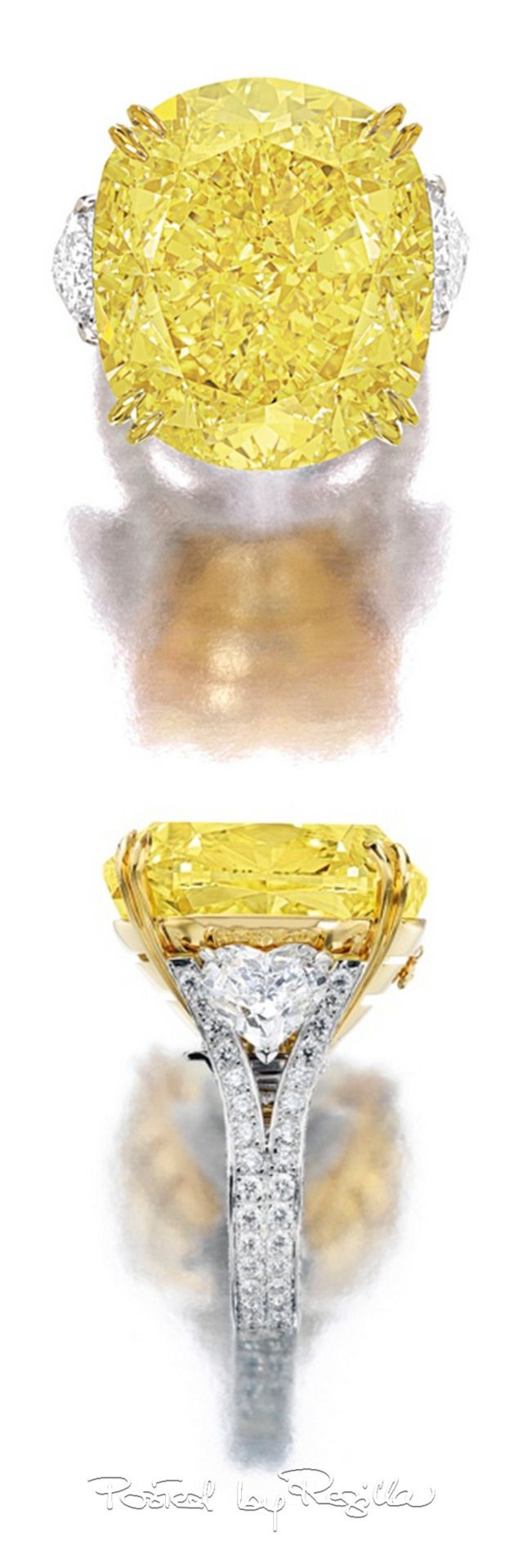 Impressive Fancy Canary + White Diamond Ring. Get more inspirations on: http://www.bocadolobo.com/en/inspiration-and-ideas/