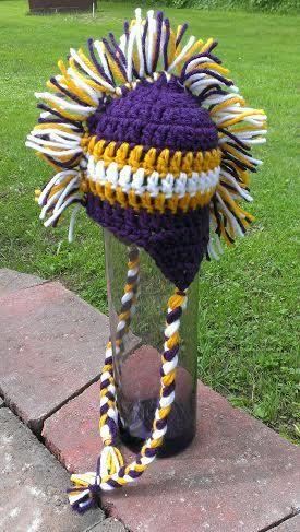Super Cute Crochet Minnesota Vikings Mohawk by TjCrochetCreations
