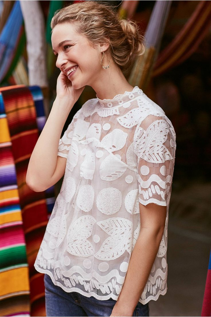 Lily Lace Blouse | Anthropologie