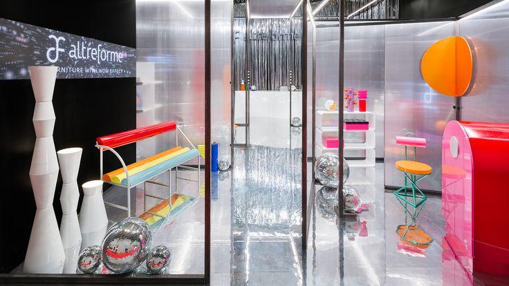 #altreforme  metallic disco galaxy stand @salonedelmobileofficial #MetallicDiscoGalaxy #Galactica #altreformestarringChupaChups new collections 2017 #designweek #interior #home #decor #homedecor #furniture with #woweffect #aluminium #art #architecture #design #decoration #interiordesign #fashion #style #home #hotel #milan #italy #madeinItaly #bespoke #luxury #furnishing