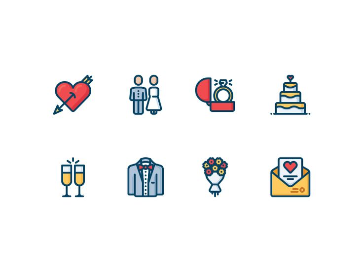 Love and wedding icons by Dmitriy Mir
