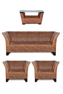 Set German Skin (1 sofa, 2 chairs, 1 table)