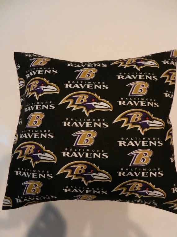 Baltimore Ravens Decorative Throw Pillow By Isewmuchtime On Etsy, $15.00