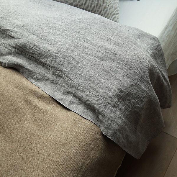 Sábana Bajera Adjustada de Lino Rabbit Stone Washed - Lino de Cama - LinenMe