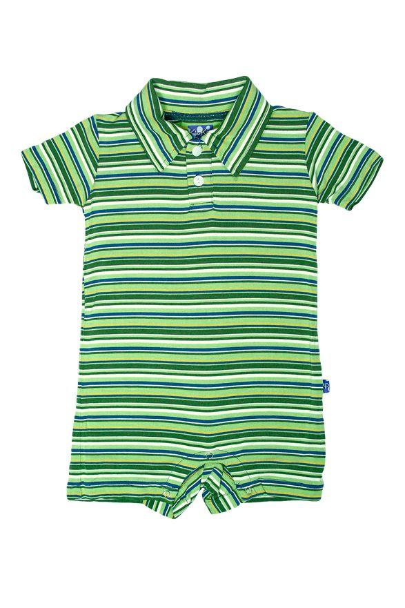 e02e5d0e0f4 KicKee Pants Island Stripe Polo Romper - Baby Boy